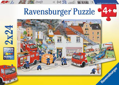Ravensburger Busy Fire Brigade Puzzle (2 x 24pc)