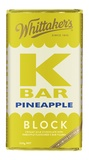 Whittakers: K-Bar Pineapple - Milk Chocolate Block (250g)