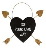 Golden Arrow Heart Plaque - Go Your Own Way