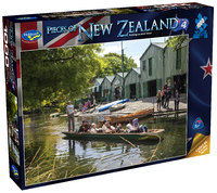 Holdson: Pieces of New Zealand - Series 4 - Punting on River Avon - 1000 Piece Puzzle image