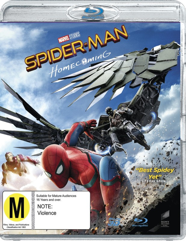 Spider-Man: Homecoming on Blu-ray, 3D Blu-ray