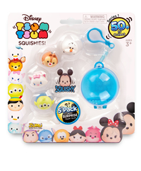Disney Tsum Tsum: Squishies - 5 Pack with Carabiner