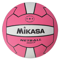 Mikasa 3550 Nylon Netball - Pink/White