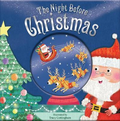 The Night Before Christmas Christmas Glitter Globe Book image