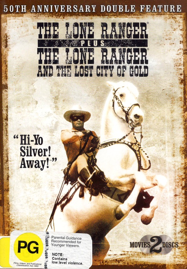 Lone Ranger 50th Anniversary, The - Double Feature (2 DVD) on DVD image