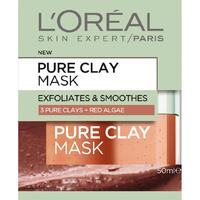 L'Oreal Paris Pure Clay Mask - Exfoliate & Smooth (50ml)