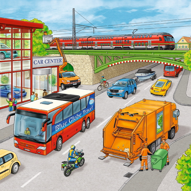 Ravensburger 3x49 Piece Jigsaw Puzzles - Moving Vehicles image
