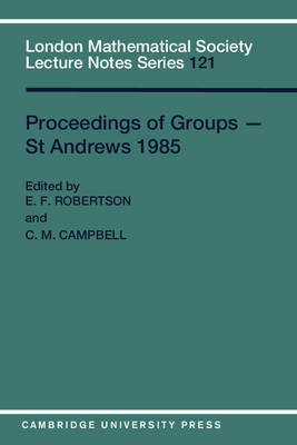 Proceedings of Groups - St. Andrews 1985 image