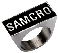 Sons of Anarchy SAMCRO Logo Ring (Size 8)