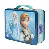 Frozen Anna and Elsa Snowflake Tin Lunchbox