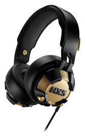 Philips SHX50/00 On-Ear LED Headphones with Microphone (40 mm Neodymium Driver/LED Button) - Black/Gold