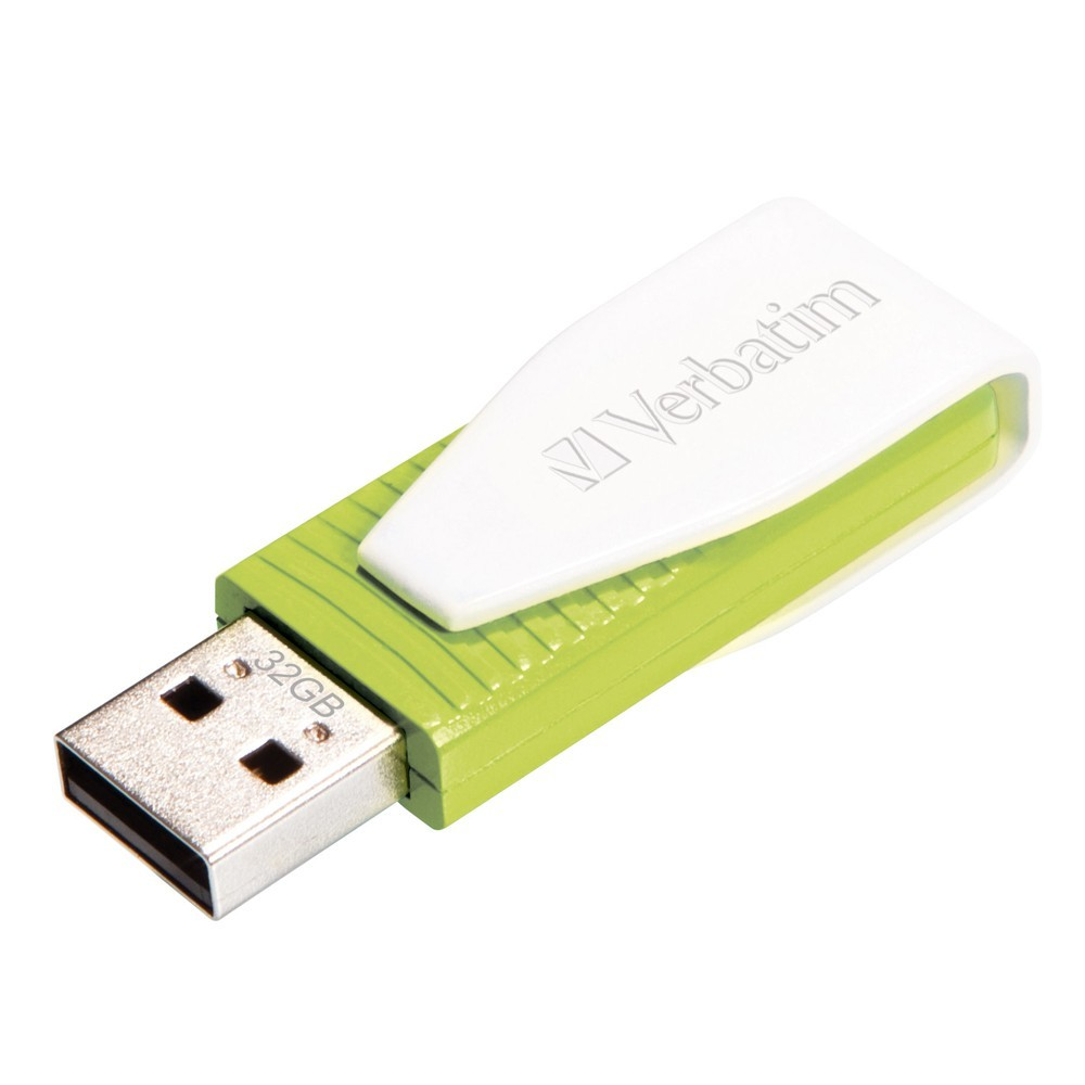 Verbatim Store'n'Go USB Drive Swivel - 32GB (Green) image