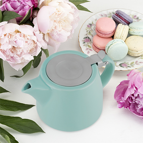 Pinky Up: Harper - Ceramic Teapot & Infuser (Blue)