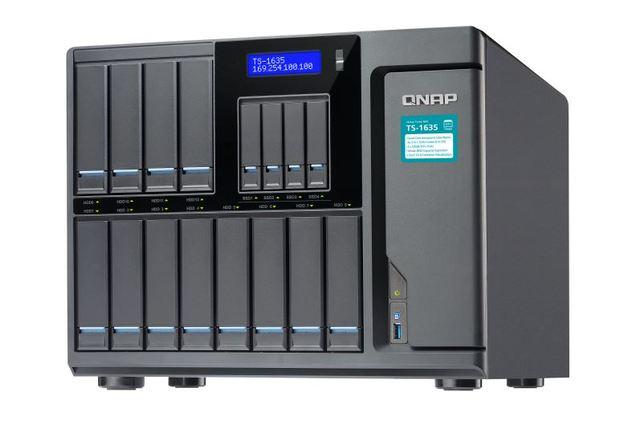QNAP TS-1635-8G NAS,12+4 BAY(NO DISK),8GB,ARM CORTEX-A15,GbE(2),10GbE SFP+(2),USB,TWR,2YR
