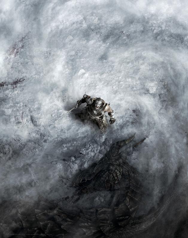 Elder Scrolls: Skyrim - Premium Art Print - Dragon Born