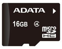 Adata: microSDHC Class 4 Card - 16GB