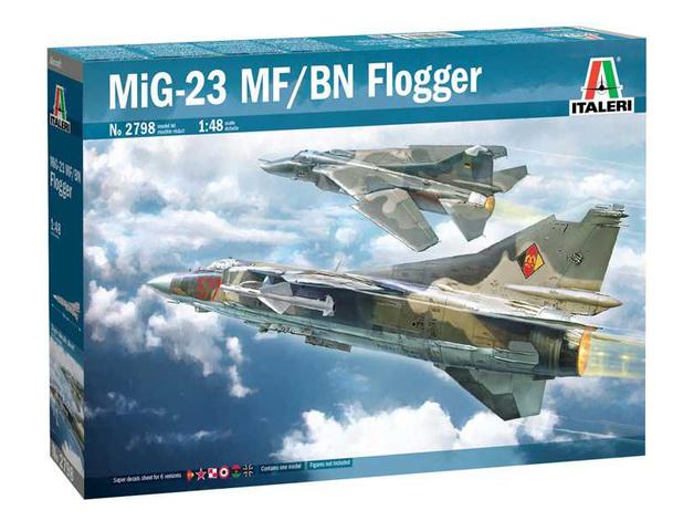 Italeri: 1/48 MiG-23 MF/BN Flogger - Model Kit