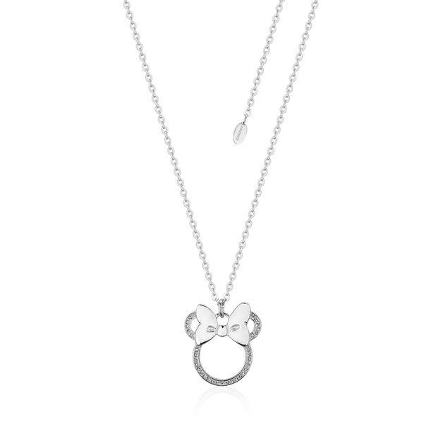 Couture Kingdom: Minnie Mouse Outline Bow Necklace (Swarovski®)