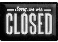 Nostalgic Art: Tin Sign - Sorry, Closed