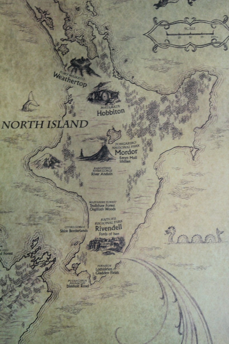 lord of the rings new zealand map of middleearth by