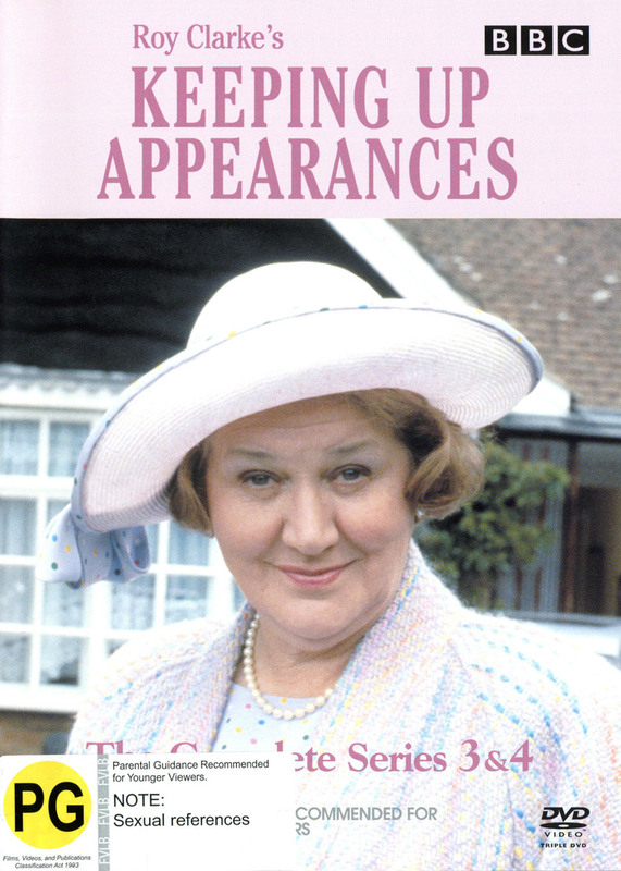 Keeping Up Appearances - Series 3 & 4 (3 Disc Set) on DVD