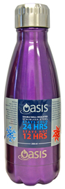 Oasis Insulated Stainless Steel Water Bottle - Purple (350ml)