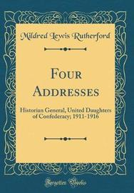 Four Addresses by Mildred Lewis Rutherford image