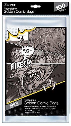 "Ultra Pro: Resealable Golden Comic Bags - (7.75"" x 10.5"")"