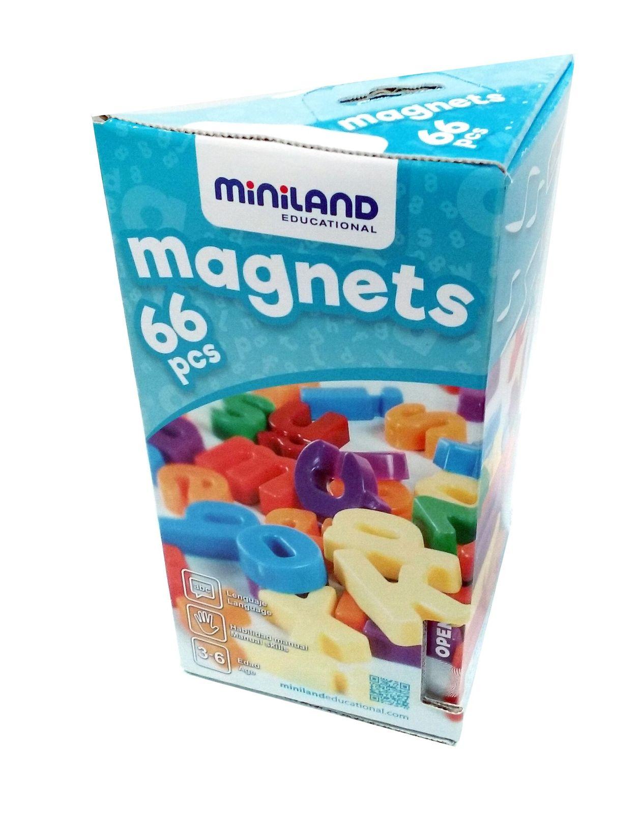 Miniland Magnetic Lower Case Letters, (62 pcs) image