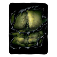 Marvel: Hulk Chest - Fleece Throw Blanket