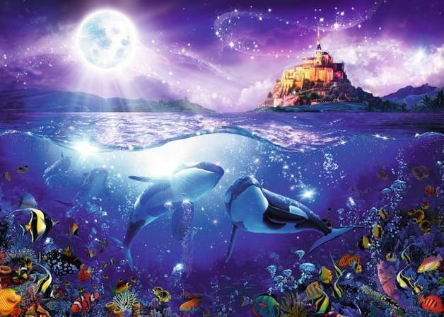 Ravensburger : Whales in the Moonlight Puz (1000 Pcs)