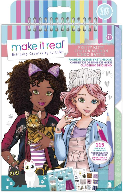 Make It Real: Fashion Design Sketchbook - Pretty Kitty