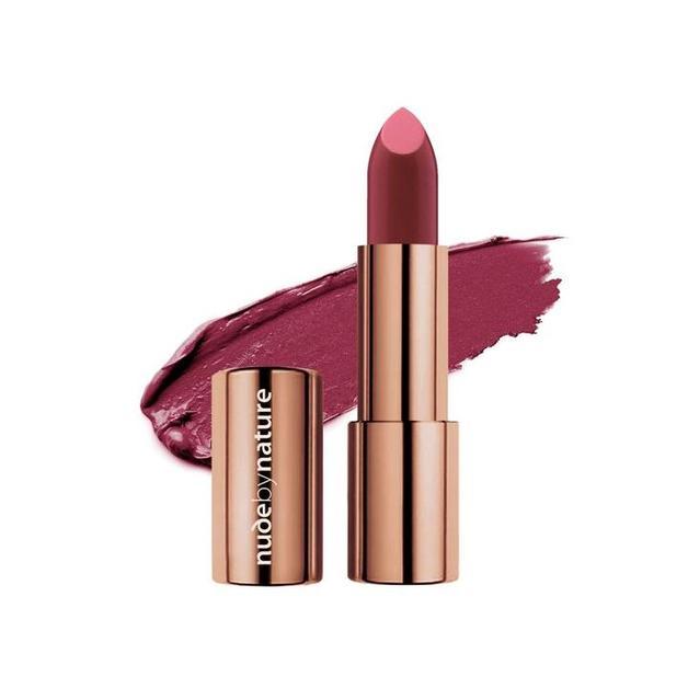Nude By Nature: Moisture Shine Lipstick - #07 Deep Plum