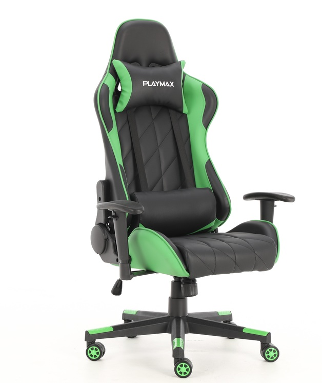 Playmax Elite Gaming Chair - Green and Black for