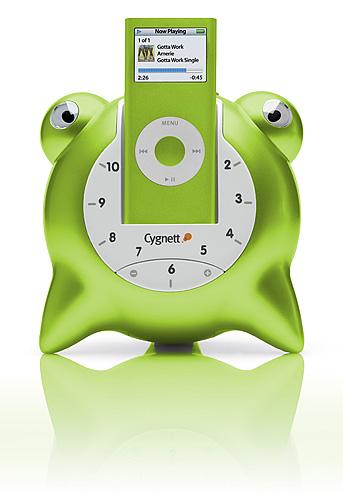 Cygnett GROOVETOONS - GREEN - IPOD NANO 2G SPEAKER DOCK image