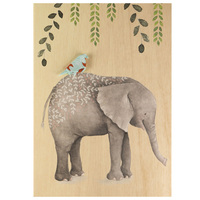 Short Story: Wooden Greeting Card - Elephant