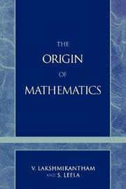 The Origins of Mathematics by V Lakshmikantham