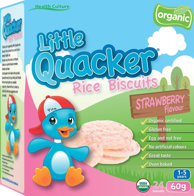 Little Quacker: Rice Biscuit - Strawberry (40g)