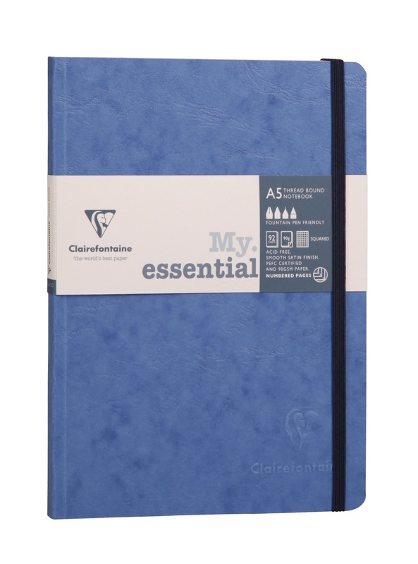 Clairefontaine: Age-Bag My Essential A5 Dot Grid - Blue