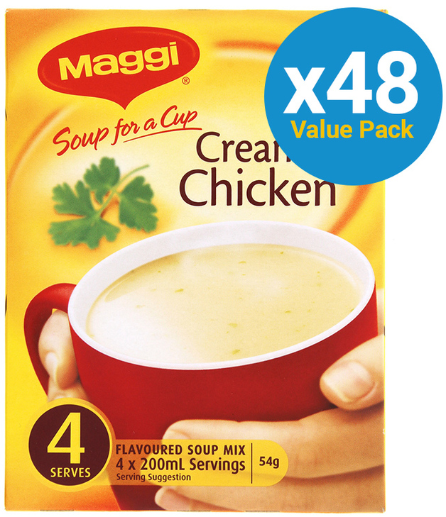 MAGGI Soup for a Cup Creamy Chicken 54g 48pk