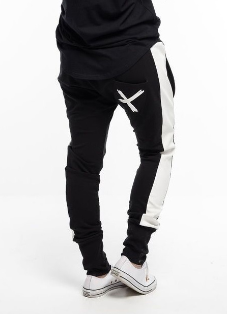 Home-Lee: Relaxer Pants - Black With X - 14
