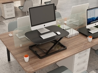 Gorilla Office: Ergonomic Laptop Deskalator Black (680x480mm) Height Adjustable Workstation