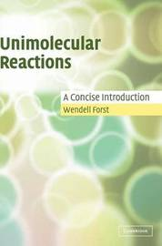 Unimolecular Reactions by Wendell Forst image
