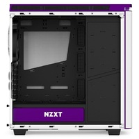 NZXT H440 Mid Tower Case 2015 Edition - White/Purple image
