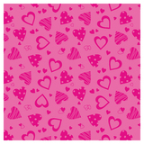 SKINZ Flocked Book Cover - Pink Hearts