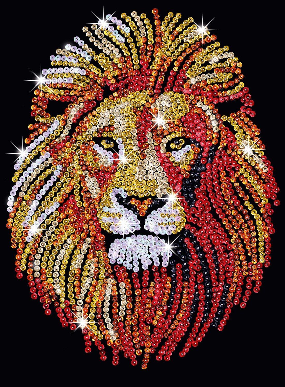 Sequin Art - Lion image