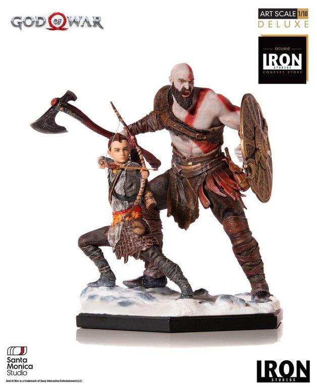 God of War (2018): 1/10 Kratos & Atreus - Battle Diorama Statue