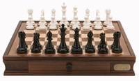 "Dal Rossi: Black/White - 20"" Chess Set"