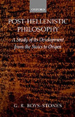 Post-Hellenistic Philosophy by G.R. Boys-Stones image
