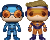 DC Comics: Booster Gold & Blue Beetle (Metallic Ver.) - Pop! Vinyl 2-Pack